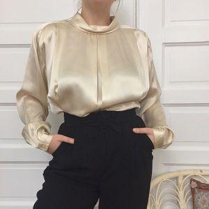 VINTAGE Dramatic Silk Blouse